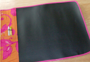 On The Go Fabric Chalkboard Tutorial