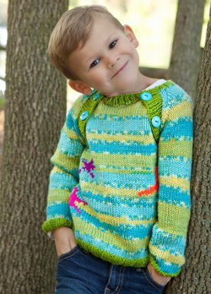 Knitting Patterns Childrens Jumpers : Childs Middy Jumper AllFreeKnitting.com