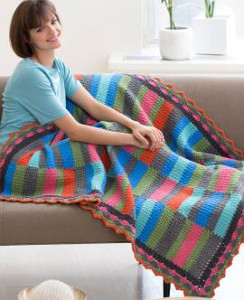 Bars and Stripes Crochet Blanket