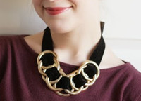 Black Velvet Statement Necklace