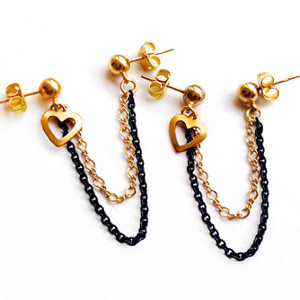 Dangling Double Chain Earrings