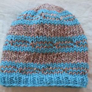 Free Hat Knitting Pattern For 2 Year Old : Blue Ice Beanie AllFreeKnitting.com