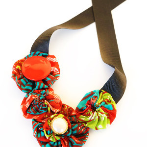 Tribal Fabric Necklace
