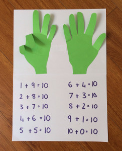 Hands-On Math Craft | AllFreeKidsCrafts.com