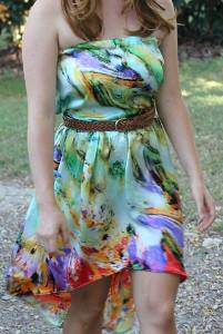 High-Low Bandeau Dress