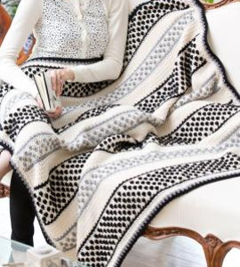 Domino Crochet Bobble Stitch Throw