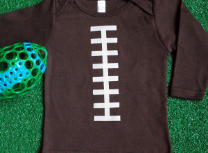 Little Linebacker Football Onesie