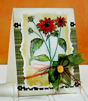 Watercolor Flower Garden Card