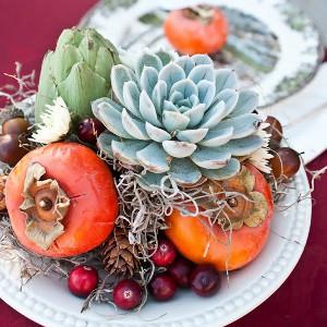Vibrant Fall Harvest Succulent Centerpieces