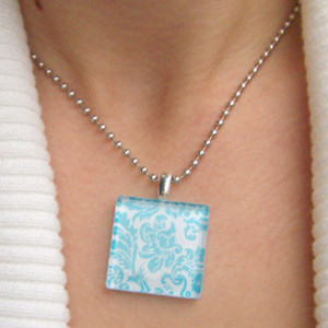 Graceful Glass Tile Pendant