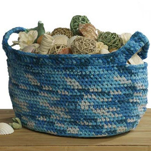 Oceanic Crochet Basket