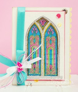 paper craft cards ideas radiant stained glass window card allfreepapercrafts 5079