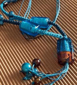 Moonlit Blue Macrame Necklace
