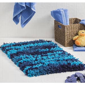 Put This Modern Shag Rug In Your Bathroom For A Fun Ocean Feel. This  Crochet Rug Pattern Is Perfect For Little Boys Who Just Want Something  Comfy To Rub ...