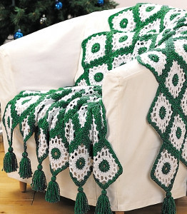 Old Fashioned Evergreen Crochet Blanket Pattern