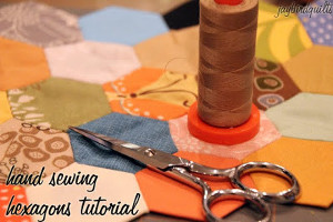 How to Hand Quilt Hexagons