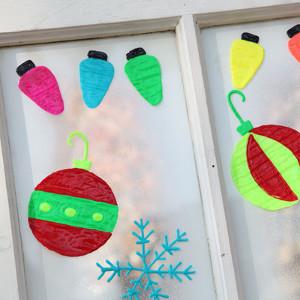 Snowflake Holiday Clings