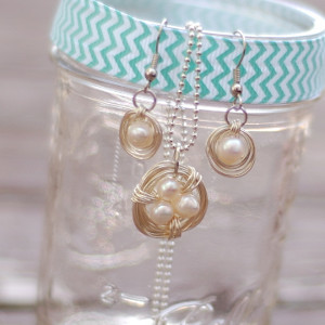Pearl Bird's Nest DIY Jewelry Set