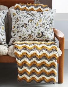 Touch of Honey Ripple Crochet Pattern