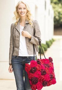 Smell the Roses Crochet Tote
