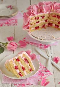 Petaled Raspberry-Rose Yellow Cake Recipe