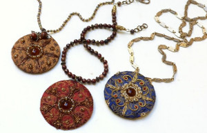 Enchanting Embroidered Pendants