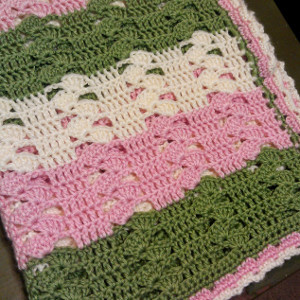 Light and Lacy Crochet Baby Blanket