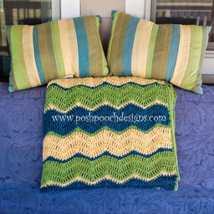 Triple Ripple Crochet Afghan Pattern