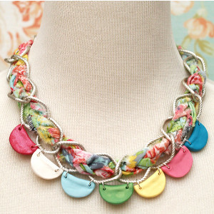 Creative and Colorful Clay Necklace