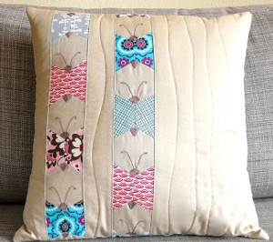 Paper Piecing Butterfly Pillow