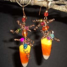 Sweet Candy Corn Earrings