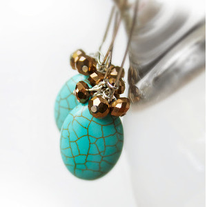 Turquoise and Gold DIY Earrings