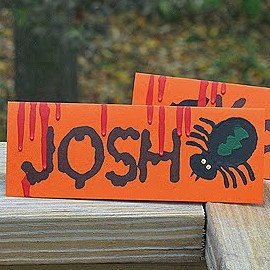 Creepy Halloween Place Cards