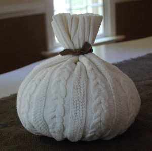 No Sew Upcycled Sweater Pumpkin