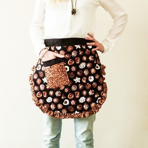 Four Fat Quarter Cocoa Apron
