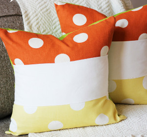Color Block Halloween Pillows