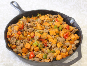Sweet Potato Sausage Skillet
