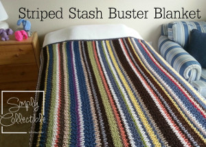 This crochet afghan will use up so much of your leftover yarn! Striped  Stash Buster Blanket 7080f7476dd