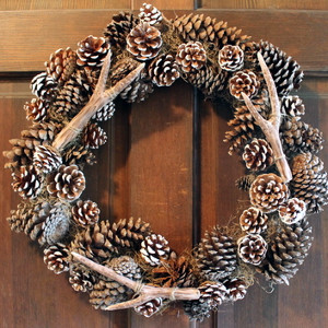 Pottery Barn Knockoff Faux Antler Wreath