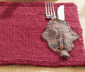 Autumn Leaves Knit Placemat Pattern