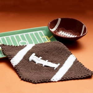 Thanksgiving Touchdown Dance Dishcloth Pattern