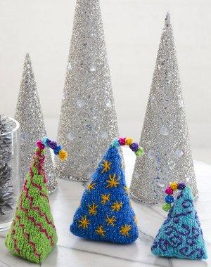27+ Knit Christmas Tree Ornament Patterns | AllFreeKnitting.com