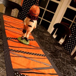 Zig Zag Halloween Table Runner