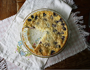 Impossible Blackberry Coconut Pie