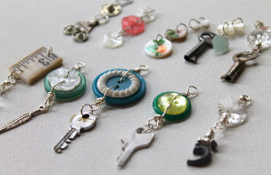 Repurposed Button Charms