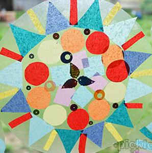 Vibrant Geometric Suncatcher