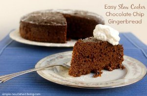 Chocolate Chip Gingerbread Cake