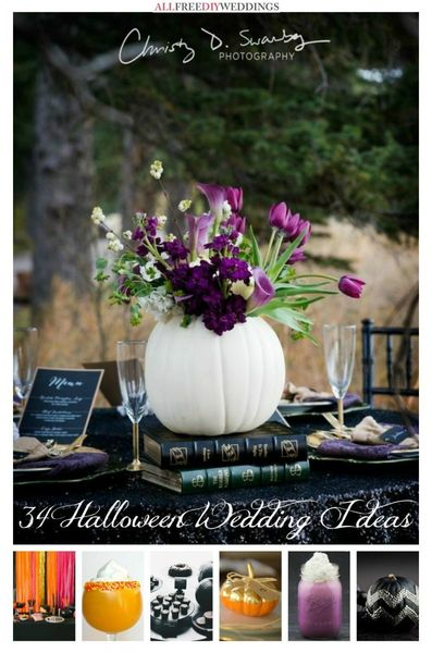 34 halloween wedding ideas allfreediyweddings 34 halloween wedding ideas junglespirit Gallery