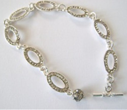 Dazzlingly Delicate Rhinestone Anklet and Bracelet