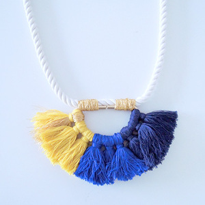 Bright and Colorful Tassel Necklace